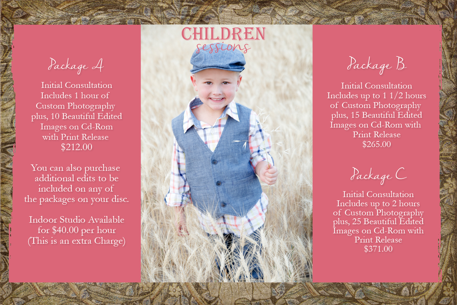 Session Fee and Prices! » Suzanne S Photography